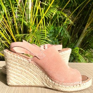 Toms Monica Suede Wedge NWT